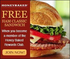 graphic about Honey Baked Ham Printable Coupons named Honeybaked Ham - Absolutely free Clic Ham Sandwich Coupon! Becs