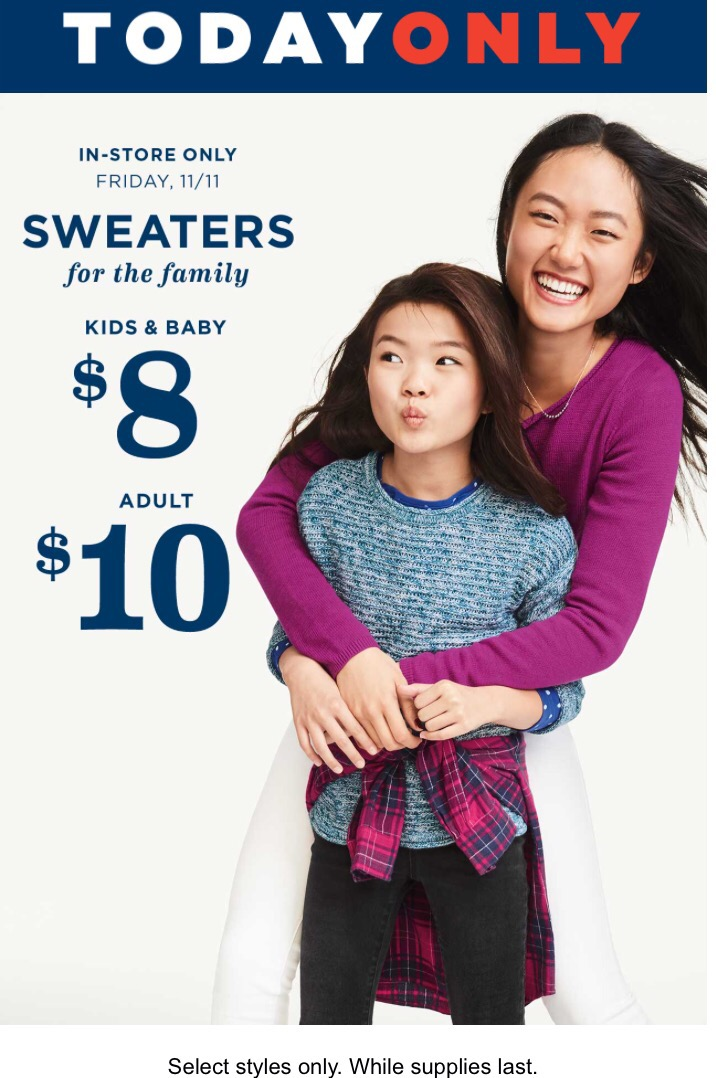 Old Navy 8 10 Sweaters In Stores Today Becs Bargains
