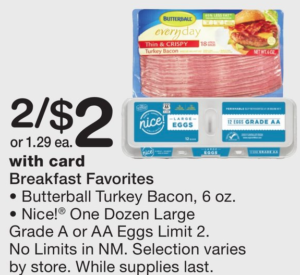graphic relating to Butterball Coupons Turkey Printable called $0.45 Butterball Turkey Bacon at Walgreens! Becs Savings