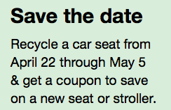 Now Through May 5th Target Is Hosting A Car Seat Trade In Event When You Yours They Will Give 20 Off Coupon Valid On Purchase Of New