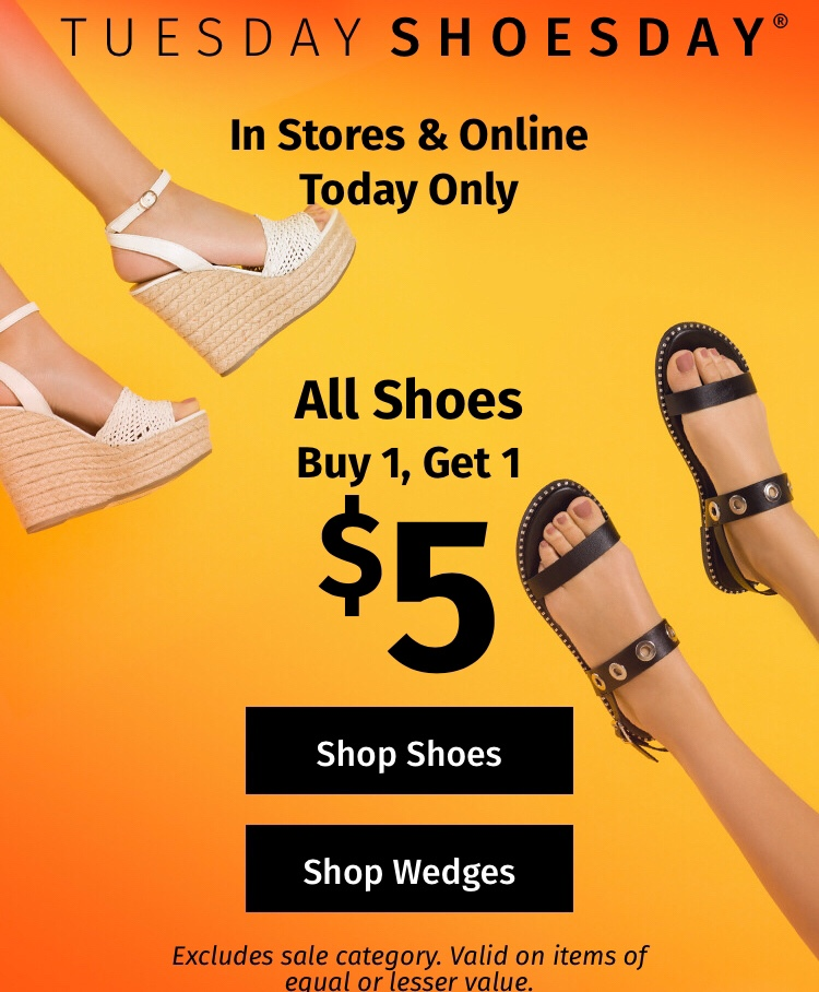 photo about Charlotte Russe Printable Coupons referred to as Charlotte Russe: Get A single Few of Sneakers Acquire A different for $5.00